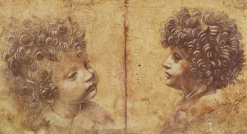 Study of a child's head Canvas Print