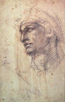 Study of a Head Canvas Print