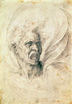 Study of a man shouting Canvas Print
