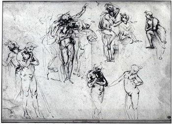 Study of nude men Canvas Print