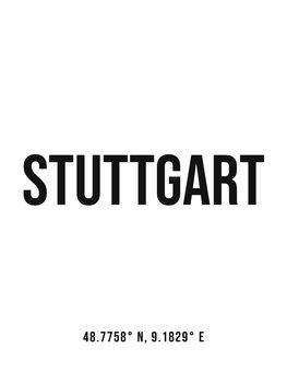 Canvas Print Stuttgart simple coordinates