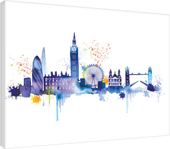 Summer Thornton - London Skyline Canvas Print
