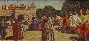 Sunday, Old Russia, 1904 Canvas Print