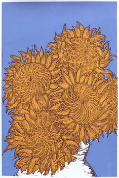 Sunflowers, 2016, Canvas Print