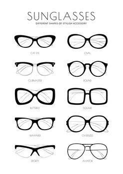 Canvas Print Sunglasses