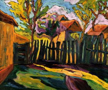Sunny Courtyard Canvas Print