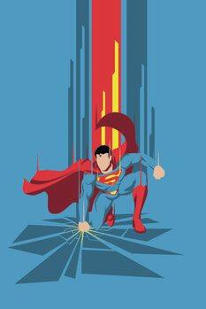 Canvas Print Superman - Power Blue