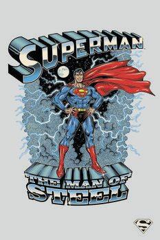 Canvas Print Superman - The man of steel