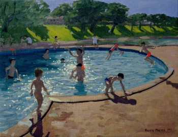 Swimming Pool, 1999 Canvas Print