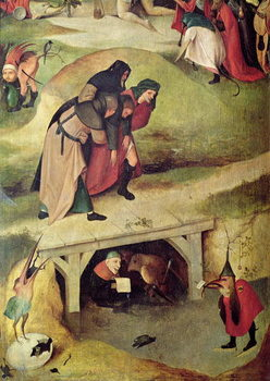 Temptation of St. Anthony, detail from left hand panel of the triptych Canvas Print