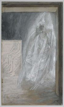The Angel Seated on the Stone of the Tomb, illustration from 'The Life of Our Lord Jesus Christ', 1886-94 Canvas Print