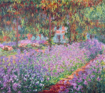 The Artist's Garden at Giverny, 1900 Canvas Print