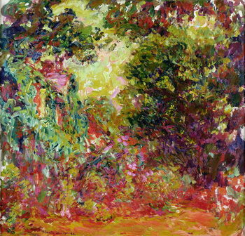 The Artist's House from the Rose Garden, 1922-24 Canvas Print