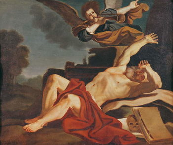 The Awakening of Saint Jerome, a copy after the work by Giovanni Francesco Barbieri (1591-1666), 1841 Canvas Print