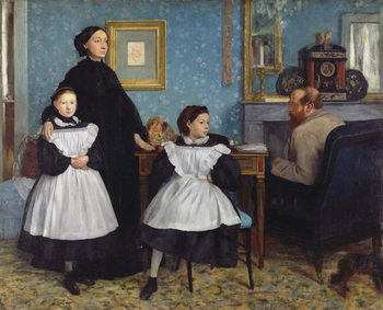 The Bellelli Family, 1858-67 Canvas Print