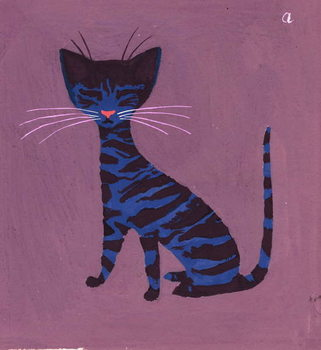 The Blue Cat, 1970s Canvas Print