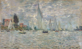 The Boats, or Regatta at Argenteuil, c.1874 Canvas Print