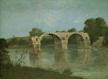 The Bridge at Ambrussum Canvas Print