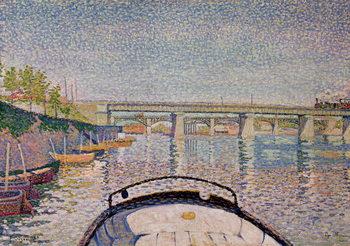 The Bridge at Asnieres, 1888 Canvas Print