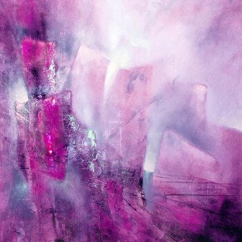 Canvas Print the bright side - pink with a hint of purple