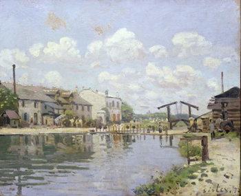 The Canal Saint-Martin, Paris, 1872 Canvas Print