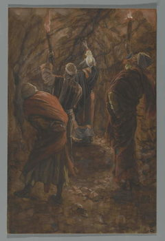 The Chasm in the Rock in the Cave Beneath Calvary, illustration from 'The Life of Our Lord Jesus Christ', 1886-94 Canvas Print