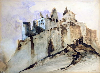 The Chateau of Vianden, 1871 Canvas Print