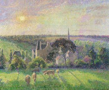 The Church and Farm of Eragny, 1895 Canvas Print
