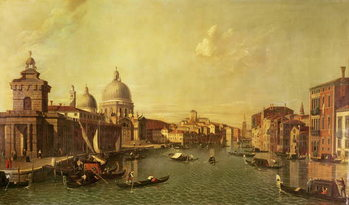 The Church of La Salute and the Grand Canal Canvas Print