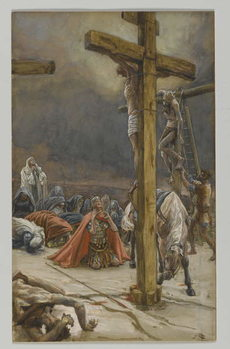 The Confession of Saint Longinus, illustration from 'The Life of Our Lord Jesus Christ', 1886-94 Canvas Print