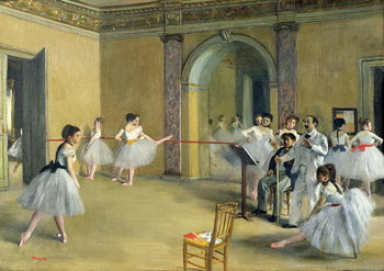 Canvas Print The Dance Foyer at the Opera on the rue Le Peletier