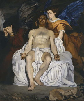 The Dead Christ with Angels, 1864 Canvas Print
