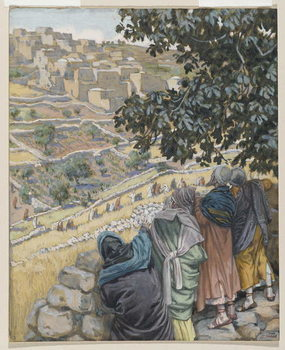 The Disciples Eat Wheat, illustration from 'The Life of Our Lord Jesus Christ' Canvas Print