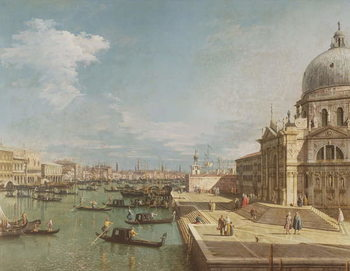 The Entrance to the Grand Canal and the church of Santa Maria della Salute, Venice Canvas Print