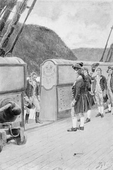 The Escape of Arnold on the British Sloop-of-War 'Vulture', illustration from 'General Washington' by Woodrow Wilson, pub. in Harper's Magazine, 1896 Canvas Print