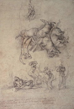 The Fall of Phaethon, 1533 Canvas Print