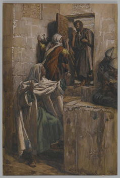 The First Denial of Saint Peter, illustration from 'The Life of Our Lord Jesus Christ', 1886-94 Canvas Print