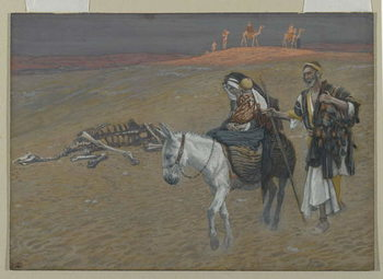 The Flight into Egypt, illustration from 'The Life of Our Lord Jesus Christ' Canvas Print