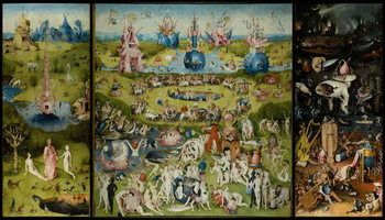 Canvas Print The Garden of Earthly Delights, 1490-1500