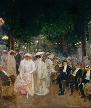 The Gardens of Paris, or The Beauties of the Night, 1905 Canvas Print