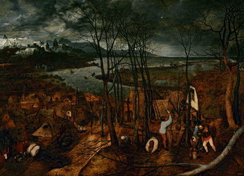 The Gloomy Day (early Spring), 1565 Canvas Print