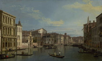 The Grand Canal in Venice from Palazzo Flangini to Campo San Marcuola, c.1738 Canvas Print