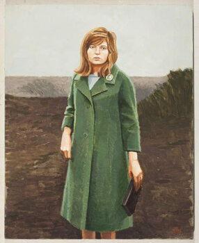 The Green Coat Canvas Print