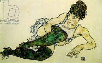 The Green Stockings, 1917 Canvas Print