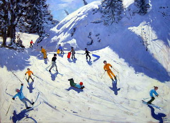 The Gully, Belle Plagne, 2004 Canvas Print