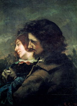 The Happy Lovers, 1844 Canvas Print