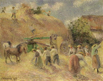 The Harvest, 1883 Canvas Print
