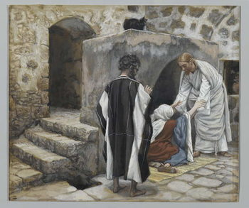 The Healing of Peter's Mother-in-Law, illustration from 'The Life of Our Lord Jesus Christ' Canvas Print