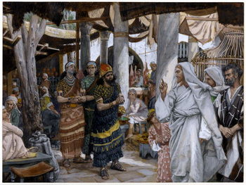 The Healing of the Ruler's Son, illustration for 'The Life of Christ', c.1884-96 Canvas Print