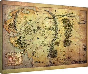 Canvas Print The Hobbit - Middle Earth Map